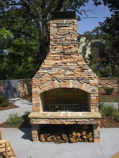 outdoor fireplace kits FireRock Outdoor Fireplace Kit Fire