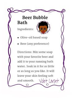 Beer bubble bath