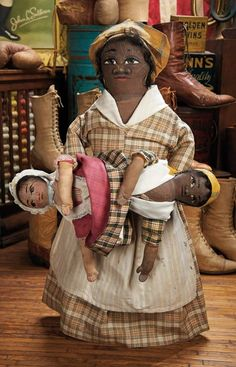 The Blackler Collection (Part 2 of 2-Vol set): 92 Very Rare Large American Black Cloth Doll by Maud Witherspoon