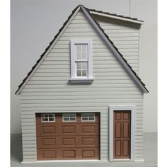 Lansdowne scale Dollhouse ONE car garage/workshop Dollhouse Design, Dollhouse Kits, Victorian Dollhouse, Modern Dollhouse, Dollhouse Miniatures, Garage Kits, Car Garage, Garage Doors, Work Shop Building