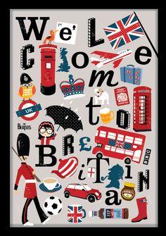 Union Jack London British Heart Art Print by Zeppi Prints https . Best Of British, British Things, British Cake, England Uk, London England, London Eye, Big Ben, Thinking Day, British Invasion