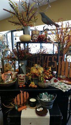Fall Display - Cuba City Autumn Displays, Home Projects, Cuba, Table Settings, Create, Fall, Autumn, Fall Season, Place Settings