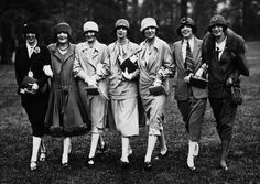 Models sporting a stylish array of 1920s daywear fashions. #vintage #fashion #1920s