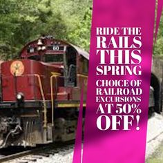 Railroad Excursions at 50% Off! #ridelocal #investlocal http://ift.tt/2om0cuM