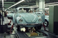 1970 VW Factory Wolfsburg | Final checks on a completed car