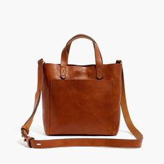 Madewell, The Small Transport Crossbody, Color: English Saddle, Add Personalization: Blind Imprint Stamp, Initials: BVH or BVB
