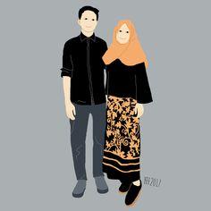 kumpulan kartun romantis parf 2 - my ely Anime Love Couple, Couple Cartoon, Vintage Disney Art, Painting Love Couple, Romantic Drawing, Hijab Drawing, Islamic Cartoon, Anime Muslim, Hijab Cartoon