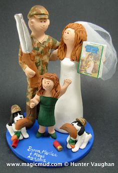 This wedding cake topper is perfect for us