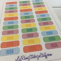 Bandaid Sticker Strips for the Compact sized Passion Planners by LyRainzStickrzNStuff on Etsy