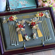 China Jewelry, Hair Jewelry, Jewellery, Asian Hair Accessories, Asian Hair Pin, Chinese Hairpin, Chinese Clothing, Hair Sticks, Hair Ornaments