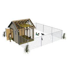 Outdoor Dog Area, Outdoor Dog Runs, Backyard Dog Area, Outdoor Dog Kennel, Nice Backyard, Dog House Plans, Shed Plans, Dog Boarding Kennels, Dog Kennels