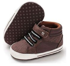 Hey, I have found a great Infant Girls and Boys Shoe on Amazon. I was thinking you will like it and want to buy one for your cute baby so, I have posted this Infant Girls And Boys Shoe for you. Classic High-top Canvas High Quanlity Canvas or Pu Leather Breathable and Comfortable. Cushioned Anti-slip Sole 100% Customer Satisfaction. Baby Boy Shoes, Crib Shoes, Boys Shoes, Ankle Sneakers, Infant Girls, First Walkers, Pu Leather, Cute Babies, High Tops