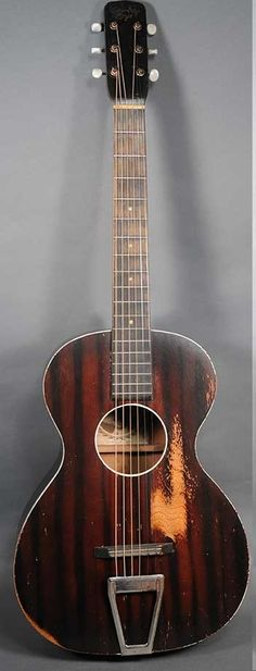 Vintage Cowboy Loye Acoustic Guitar Circa 1935. Cowboy Loye was a popular radio star in the late 1920s and 1930s