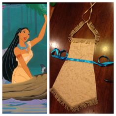 Pocahontas Disney Princess Apron More Disney Princess Aprons, Disney Aprons, Disney Dress Up, Diy Disney Princess Costumes, Pocahontas Costume Kids, Pocahontas Disney, Disney Diy, Disney Crafts, Dress Up Aprons