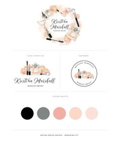 Branding Kit Make Up Artist Logo Logo от ArlyneGraceDesign