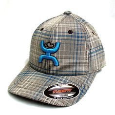 "HOOey ""Eldorado"" Brown and Turquoise Youth Cap"