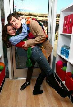 "Leighton Meester and Ed Westwick in a photo shoot for the ""GAP"""