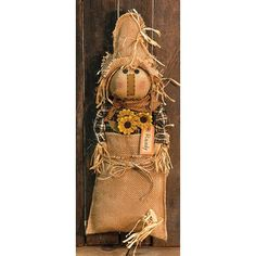 Primitive Country Mouse In Burlap Sack Farmhouse Ornie FREE SHIPPING