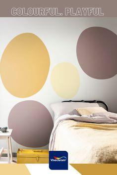 Κάντε μία αλλαγή στην κρεβατοκάμαρά σας δίνοντας ένα ζωηρό και παιχνιδιάρικο χαρακτήρα! Αποχρώσεις: 40YY 49/408 45YY 75/110 10YR 28/072 #bedroom #bedroomideas Bedroom, Bedrooms, Dorm Room, Dorm