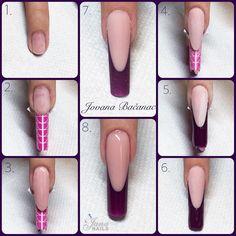 nail tips design Teal Polygel Nails, Uv Gel Nails, Diy Nails, Gel Nail Art, Hair And Nails, Gel Nails Shape, Nail Extensions Acrylic, Diy Acrylic Nails, Nail Tip Designs