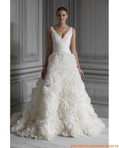 2013 Luxuriöse maßgeschneiderte Brautmode aus Organza und Taft