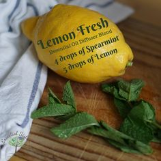 Lemon Fresh is a good blend any day! Especially a sunny summer day! This is a basic blend but freshens up any room quickly! Essential Oil Diffuser Blends, Essential Oils, Peppermint, Lemon, Essentials, Fresh, Summer, Room, Mint