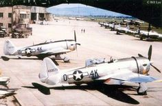 A pair of P-47D Thunderbolts