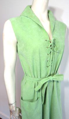 Vintage HALSTON 1970's Ultra suede dress
