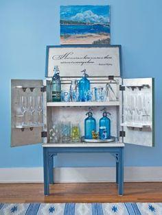 Bar Cabinet makeover