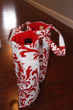 Double Wine Bottle tote by closecrafts on Etsy, $23.50