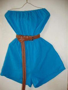 MiniMono strapless en tela de manta   disponible solo talla MD  Varios Colores   Incluye Cinto Trenzado
