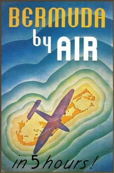 Pan Am Travel to Bermuda by Air Vintage Airline Travel Poster Art Print | eBay