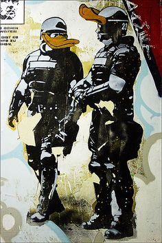 "Streetart Berlin [Blog] * [Facebook] * [Twitter] Made by streetartist ""Dolk"" - #streetart #aryz - Click for more streetart"