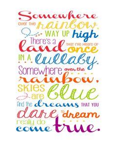 Somewhere Over the Rainbow  Wall Art  8x10 print by sweetleighmama, $12.00