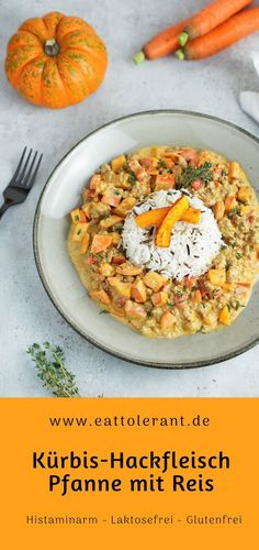Simple recpet for a spicy pan with pumpkin, minced meat and rice. Egg Recipes, Pumpkin Recipes, Pumpkin Pumpkin, Fiber Rich Fruits, Mince Meat, Raw Vegetables, Diet Snacks, Healthy Nutrition, Risotto