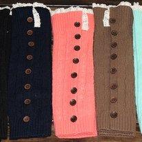 Stylish Button Down Boot Socks and Leg Warmers.  #bootsocks #knitsocks #Socks