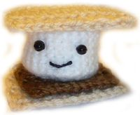 Satisfy your sweet tooth with this s'more amigurumi.  Check out the Crochet Spot for the pattern. Would be a great small project for Vanna's Palettes.