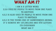 What Am I Puzzle with Solution English Riddles, 6 Letter Words, Word Riddles, Brain Teasers, English Words, Puzzles, How To Remove, Lettering, Fun