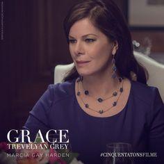 Marcia Gay Harden é Grace Trevelyan Grey, mãe de Christian. #CinquentaTonsFilme