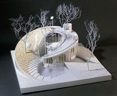 'House for the Third Millennium' by Ushida Finlay - Houses interior designs Maquette Architecture, Architecture Design, Concept Models Architecture, Architecture Model Making, British Architecture, Organic Architecture, Landscape Architecture, Architecture Organique, Architecture Foundation