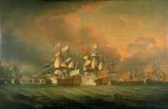 The Battle of the Saints, 12 April 1782 - National Maritime Museum