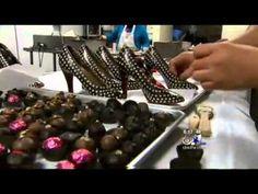 How to Make A Chocolate High Heel Shoe - Sweet Designs Chocolatier - YouTube