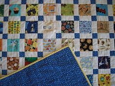 Fast easy method for making sashing and corner squares at the same time as the blocks