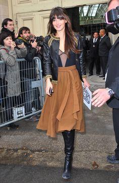 Charlotte Le Bon - Paris Fashion Week Spring/Summer 2011 - Chanel Show Arrivals