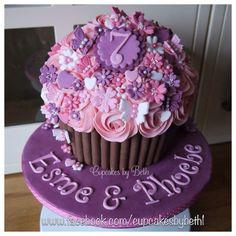 Girly Giant Cupcake www.facebook.com/cupcakesbybeth1