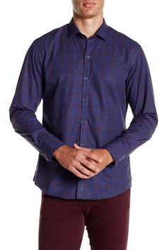 Image of Zachary Prell Plaid Long Sleeve Shirt