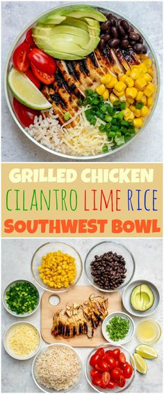 Grilled Chicken Meal Prep Bowls 4 Creative Ways for Clean Eating! – Clean Food Crush More from my site Grilled Chicken Meal Prep Bowls 4 Creative Ways for Clean Eating! Healthy Meal Prep, Healthy Dinner Recipes, Cooking Recipes, Eating Healthy, Healthy Food, Eat Clean Recipes, Clean Foods, Clean Eating Dinner Recipes, Healthy Drinks