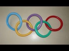 Олимпийские кольца из шариков
