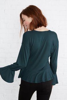 Rosalie Top (Darkest Spruce) – Long Sleeve – Amour Vert