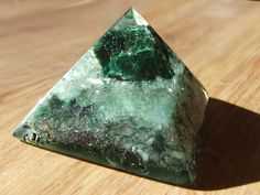 orgonite orgone energy pyramid with malachite